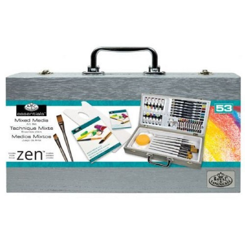 Royal and Langnickel - Zen Wooden Box Mixed Media Art Set - RZEN-MMS7301