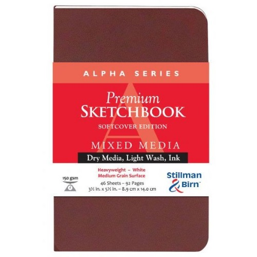"Stillman and Birn Alpha Series 3-1/2"" x 5-1/2"" Softcover Sketchbook - SB101350P"