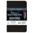 "Stillman and Birn Nova Series 3.5"" x 5.5"" Black Softbound Sketchbook - SB593350P ES9137"