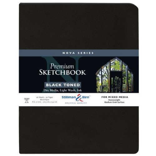 Stillman and Birn Nova Series 8 x 10 Black SoftBound Sketchbook - SB593810P