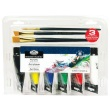 Royal and Langnickel Essentials 75ml Acrylic Paint Set with Brushes - RACR75-6B ES9165