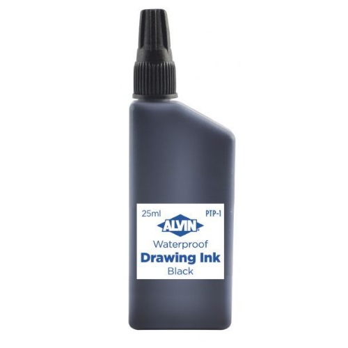 Alvin India Waterproof Black Drawing Ink 25ml - PTP-1