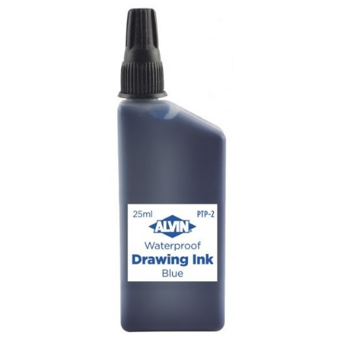 Alvin India Waterproof Blue Drawing Ink 25ml - PTP-2