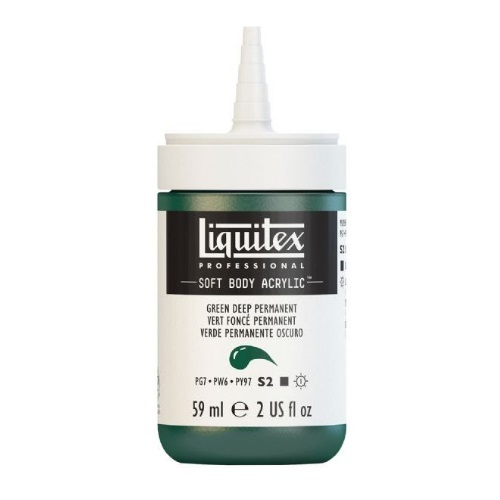 Liquitex Professional Soft Body Acrylic Deep Green Permanent - 1959350