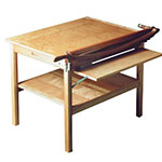 "Alvin Ingento ClassicCut 30"" Maple Series Table Mounted Trimmer with Guard Rail - 8T/B ET10095"