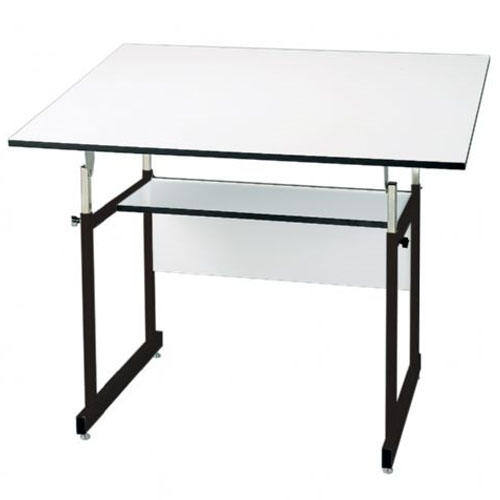"Alvin 36"" x 48"" WorkMaster Jr. Table - Black Base and White Top - WMJ48-3-XB"
