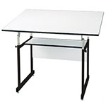 "Alvin 36"" x 48"" WorkMaster Jr. Table - Black Base and White Top - WMJ48-3-XB ET10381"