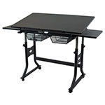 "Alvin 24"" x 40"" CraftMaster X Table - Black Top - CMX-BK ET10660"