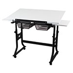 "Alvin 24"" x 40"" CraftMaster X Table - White Top - CMX-WB ET10661"