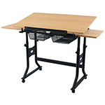"Alvin 24"" x 40"" CraftMaster X Table - Wood Top - CMX-XB ET10662"