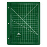 Alvin GBM Series Green/Black Professional Self-Healing Cutting Mat For 3-Ring Binders - GBM0811H ET10669
