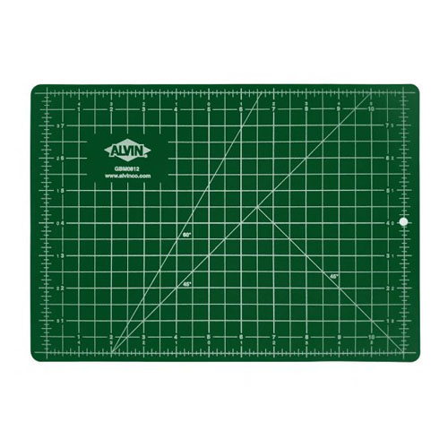 "Alvin GBM Series 40"" x 80"" Green/Black Professional Self-Healing Cutting Mat - GBM4080"