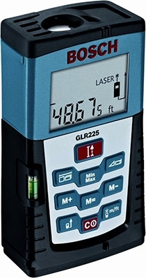 Bosch GLR225 Digital Laser Distance Measuring Tool with 225 Foot Range ES2920