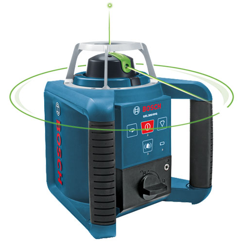 Bosch Self-Leveling Green Rotary Laser with Layout Beam GRL300HVG (Green)