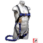 Elk River Construction Plus Series Safety Harness with 6' NoPac Energy Absorbing Lanyard - 48113 ET10058