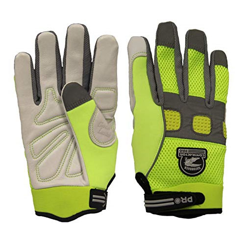 Gatorback Reflective Goat Skin Leather Gloves - 635 (3 Sizes Available)