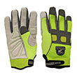Gatorback Reflective Goat Skin Leather Gloves - 635 (3 Sizes Available) ES9754