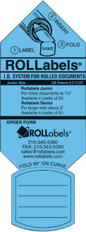 ROLLabels Junior - Fluorescent Blue (JRBL)