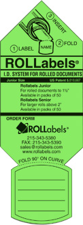 ROLLabels Junior - Fluorescent Green (JRGN)
