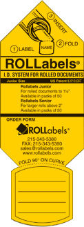 ROLLabels Junior - Fluorescent Yellow (JRYW)