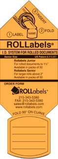 ROLLabels Senior - Fluorescent Orange (SROR)