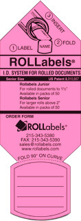 ROLLabels Senior - Fluorescent Pink (SRPK)