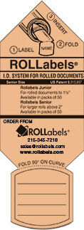 ROLLabels Senior - Pastel Peach (SRPPC)