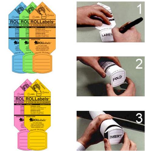 ROLLabels Junior (5 Packs of 50 Labels - Assorted Fluorescent Colors)