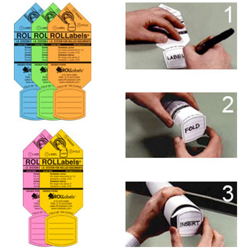 ROLLabels Senior Assorted Fluorescent Colors Sr-A