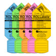 ROLLabels Senior Assorted Fluorescent Colors