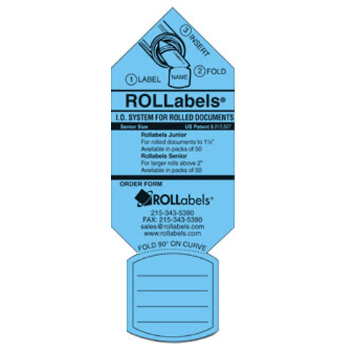 ROLLabels Senior - Fluorescent Blue (SRBL)