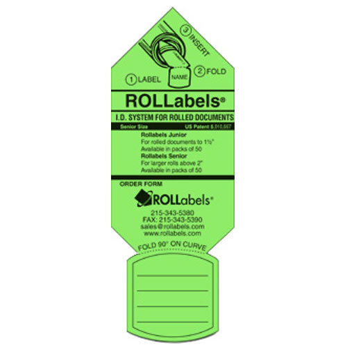 ROLLabels Senior - Fluorescent Green (SRGN)