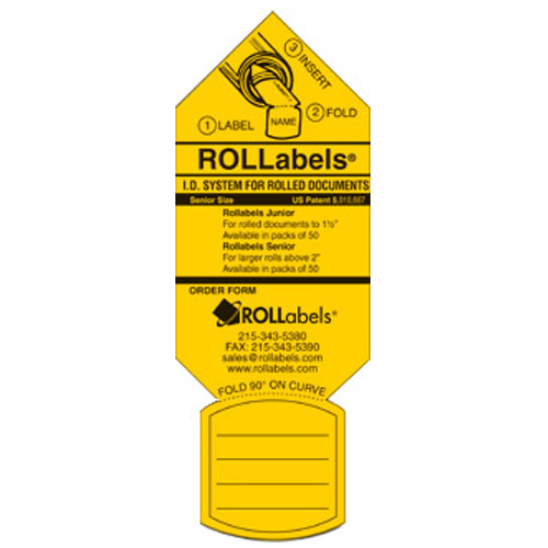 ROLLabels Senior - Fluorescent Yellow (SRYW)