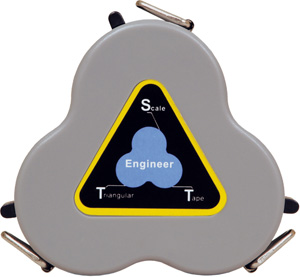 Engineer's Triangular Scale Tape 9006-00