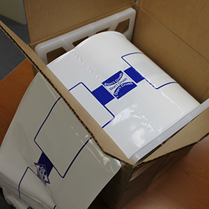 10 Quot X 44 Quot Plastic Blueprint Shipping Bags With Dispenser