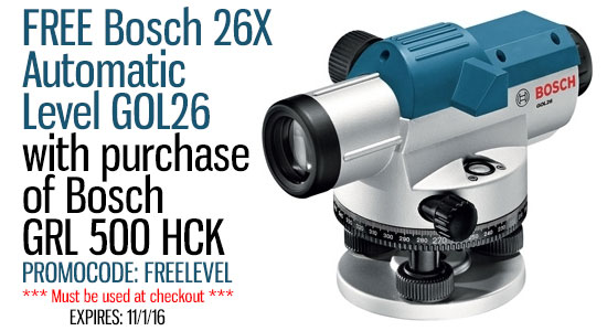 Bosch Grl500hck Self Leveling Horizontal Slope Rotary