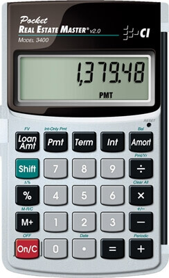 Calculated Industries Pocket Real Estate Master 3400 ES188