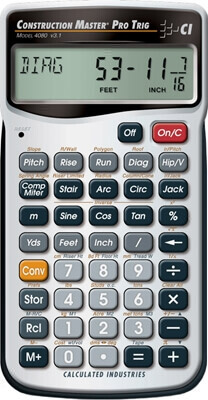 Calculated Industries Construction Master Pro Trig 4080 Calculator ES21