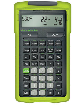 Calculated industries concretecalc pro 4225 concrete New construction calculator