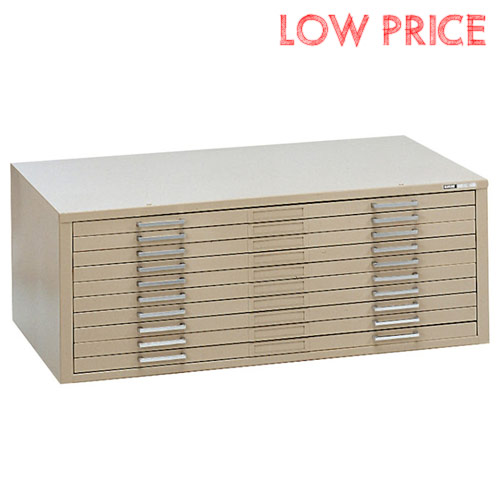 "Mayline C-File 10-Drawer Flat File for 30"" x 42"" Sheets 7978C"