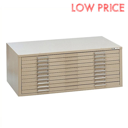 "Mayline C-File 10-Drawer Flat File for 36"" x 48"" Sheets 7979C"