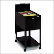 Mayline Letter Size Mobilizer with File and Lid 9P610BLK - Black ES1346