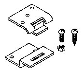 Mayline Replacement Hinge Kit for Wood Drafting Tables 10109