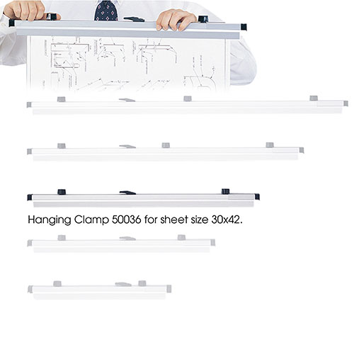 "Safco 30"" Hanging Clamps for 30"" x 42"" Sheets 50036 ES110"