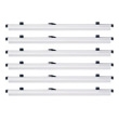 "Safco 42"" Hanging Clamps for 42"" x 60"" Sheets 50056 (Carton of 6 Clamps) ES112"