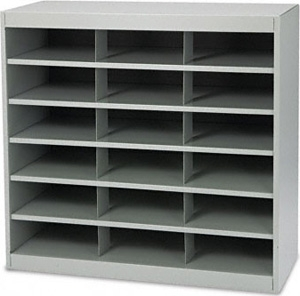Safco EZ Stor Steel Project Organizer 18 Compartment 9264GR ES2208