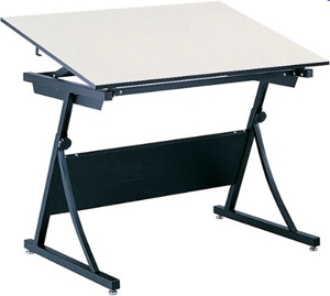 "Safco PlanMaster Height-Adjustable 48"" Drafting Table (3957 and 3951) ES266"