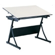 Safco PlanMaster Height-Adjustable Drafting Table 3957 with 48 Inch Top 3951 ES266