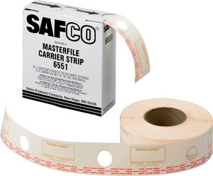 Safco Film Laminate Carrier Strips for MasterFile2 6551 ES395