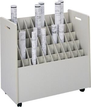 Safco Mobile Roll File 50 Compartment Model 3083